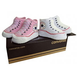 Converse - All Star Infant Booties, 0-6 luni, Roz/Alb