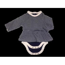 Mamas&Papas - Body Tip RochitaNavy Stripes Pink Dots