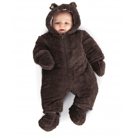 Mothercare - Salopeta Brown Fluffy Snowsuit