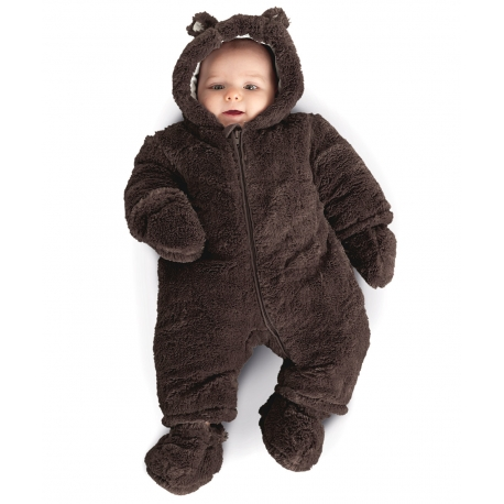 Mothercare - Salopeta Brown Fluffy Snowsuit