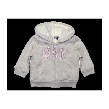 GAP - Hanorac iarna fetite cu logo Pink