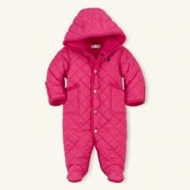 Ralph Lauren - Baby Girls Pink Quilted Snowsuit logo
