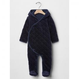 GAP - Salopeta bebelusi Fleece All-in-one, Bleumarin