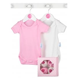 Bluebird - Cadou fetite Baby Cupcake Bodysuit, 4 body-uri 0-3 luni