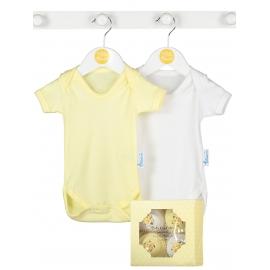 Bluebird - Cadou Unisex Baby Cupcake Bodysuit, 4 body-uri 3-6 luni