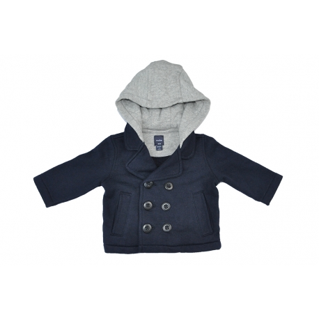 GAP - Cardigan cu gluga Navy/Grey