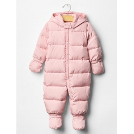 GAP - Combinezon cu puf Warmest Down Fill, Roz