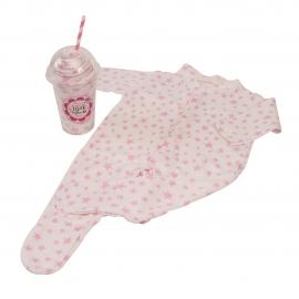 Bluebird - Milkshake Sleepsuit Cadou body bebelusi roz