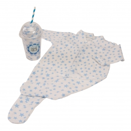 Bluebird - Milkshake Sleepsuit Cadou body bebelusi bleu