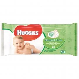 Huggies - Servetele umede bebelusi Natural Care 56 buc
