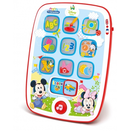 Clementoni - Tableta interactiva Baby Mickey Mouse