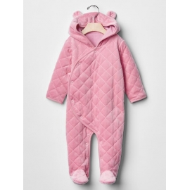 GAP - Salopeta bebelusi Fleece All-in-one, Pink