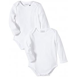 Tommy Hilfiger - Set body bebelusi Baby Body Essentials, Alb