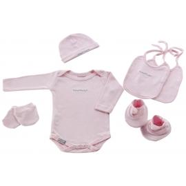 NAF NAF - Set cadou nou nascuti 6 piese, roz