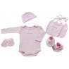 NAF NAF - Set cadou nou nascuti (6 piese, roz)