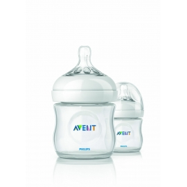 Philips AVENT - Set 2 biberoane Natural, 125 ml, 0 luni +