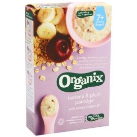 Organix - Cereale cu Ovaz, Orez, Banane si Prune (200g)
