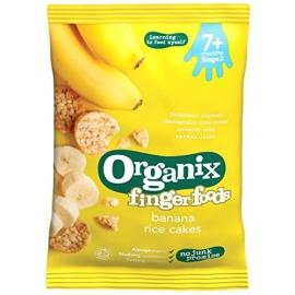 Organix - Rondele Finger din Orez expandat si Banane (50g)