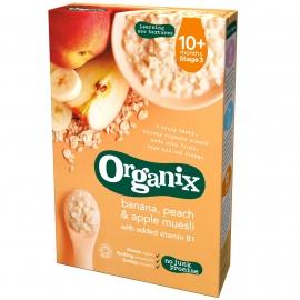 Organix - Cereale Muesli, Piersici, Banane, Mere 10+ luni, 200g