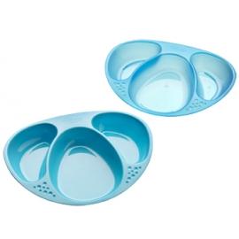 Tommee Tippee - Set 2 farfurii compartimentate, Albastru