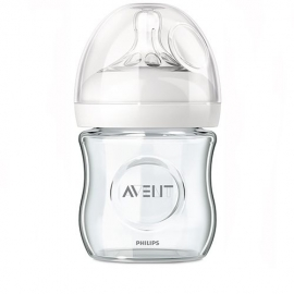 Philips AVENT - SCF671/17 Biberon Natural Sticla, 120 ml, 0 luni +