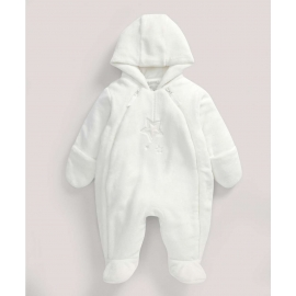 Mamas&Papas - Combinezon Fur Pramsuit, Welcome to the World, Alb