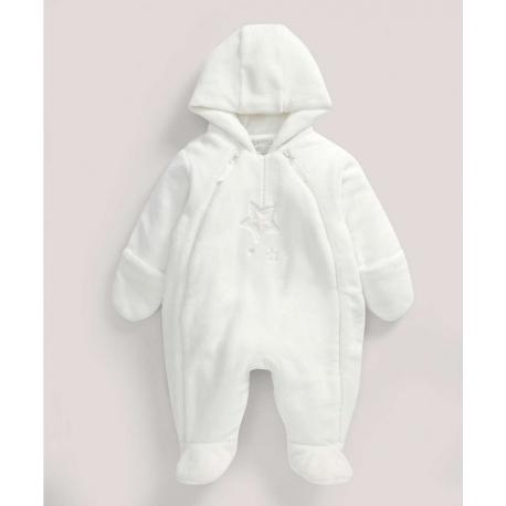 Mamas&Papas - Salopeta Fur Pramsuit, Welcome to the World, Alb
