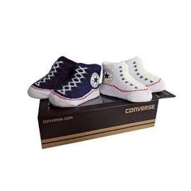Converse - All Star Infant Booties, 0-6 luni, Alb/Bleumarin