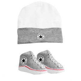 Converse - All Star Infant Hat&Booties, 0-6 luni, Gri