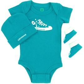 Converse - All Star Infant Set 3 piese, 0-6 luni, Albastru