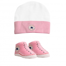 Converse - All Star Infant Hat&Booties, 0-6 luni, Roz