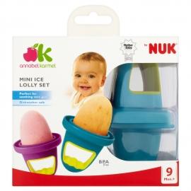 NUK - Annabel Karmel Ice Lolly Moulds, 4 forme pentru mini-inghetata