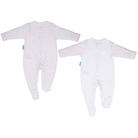 Gro - Set Bodysuits, Pink Hearts, 2 buc