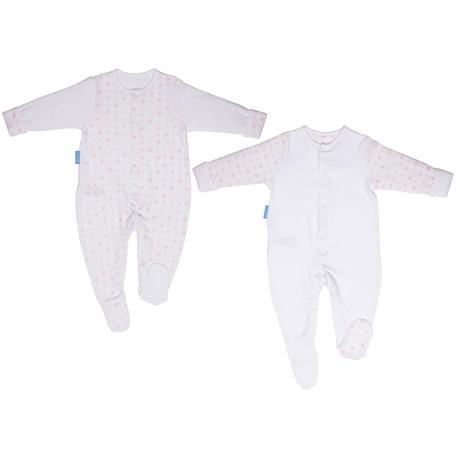Gro - Set Bodysuits, Pink Hearts, 2 buc