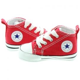 Converse - Tenisi All Star Crib Trainers, First Star, Rosu