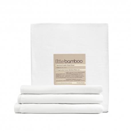 Little Bamboo - Cearsaf de pat din bambus organic 135x77x19 cm