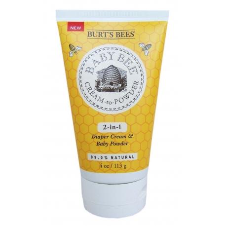 Burt's Bees - 2in1 Crema si pudra pentru zona scutecului 113g