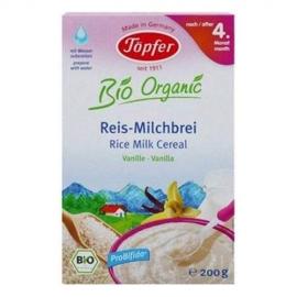 Topfer - Cereale cu orez, lapte si vanilie, 200 g, 4 luni+