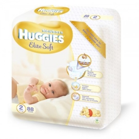 Huggies - Scutece Elite Soft 2, 4–7 kg, 88 buc