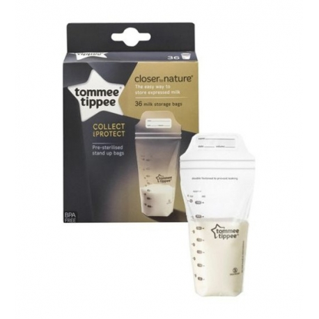 Tommee Tippee - Pungi De Stocare Lapte Matern, 36 Buc