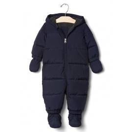 GAP - Combinezon cu puf Warmest Down Fill, Bleumarin