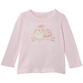 Esprit - Bluza fetite cu maneca lunga Sheer Pink