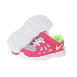 Nike - Adidasi copii piele Kids Fusion Run 2, Roz/Gri
