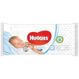 Huggies - Servetele umede bebelusi Newborn, 56buc