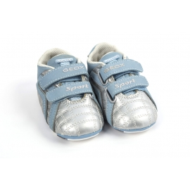 Geox - Baby Boy Sport Silver Trainers