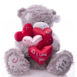 Me to You - Ursulet Tatty Teddy I love You 5 Hearts, Large, 14""