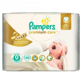 Pampers - Scutece Premium Care 0 New Born Carry Pack 30 buc
