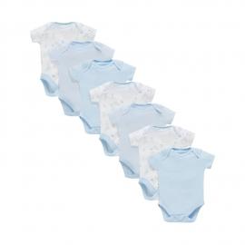 Mothercare - Set Body cu maneca scurta MyFirst, 7 buc, Blue
