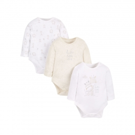 Mothercare - Set Body cu maneca lunga Hello Little, 3 buc