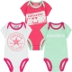 Converse - All Star Infant Set 3 Body Gift, Roz/Verde